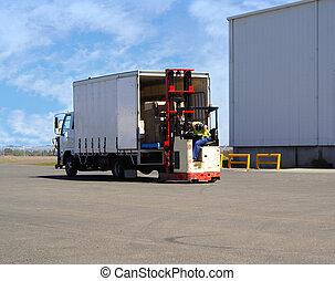 Loading Truck - forklift driver loading truck