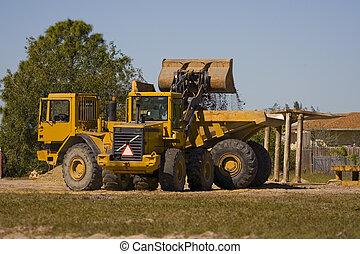Loading up a dump truck