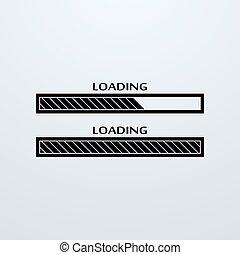 Loading, uploading, downloading status bar icon