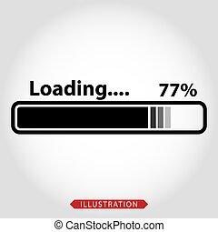 Loading vector icon. Loading style sign for mobile concept and web design. Downloading symbol logo illustration. eps10