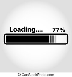 Loading vector icon. Loading style sign for mobile concept and web design. Downloading symbol logo illustration. eps 10