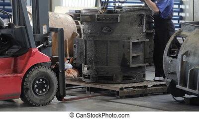 Loading work forklift truck. electric forklift truck....