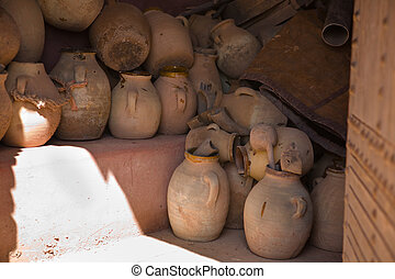 Loads of Plain pottery - Pottery in Morocco is an old...