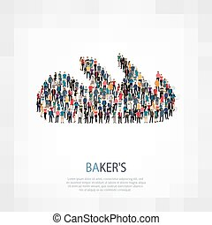 loaf baker people vector