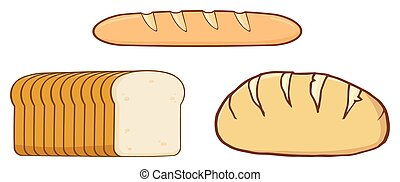 Loaf Bread Design Collection Set
