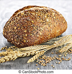 loaf, multigrain, bread