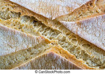 Loaf of bread closeup.