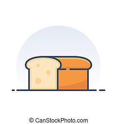 Loaf of bread. Detailed filled outline icon.