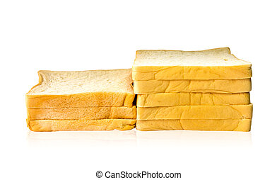Loaf of bread isolated on white background.