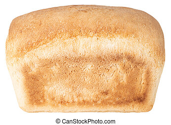 Loaf of bread isolated on white background. With Clipping Path