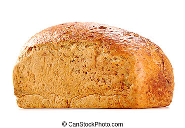 Loaf of bread isolated on white