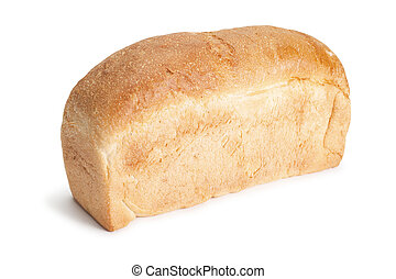 loaf of bread isolated over white background