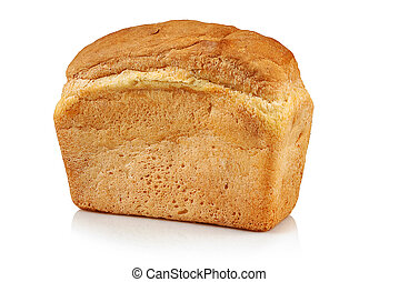 Loaf of bread on a white background