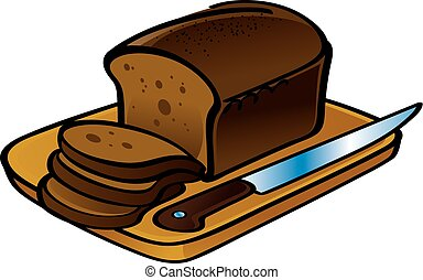 loaf of bread slice clip art loaf of bread with slice and vector rh canstockphoto com bread clip art free bread clip art black and white