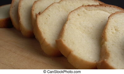 Loaf of fresh white bread