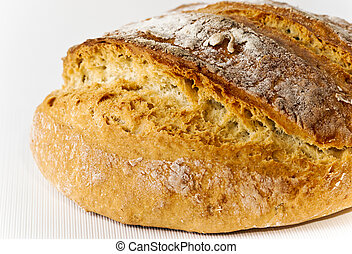 Loaf of Honey white bread close up - Honey white bread with...