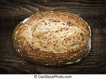 Loaf of multigrain artisan bread