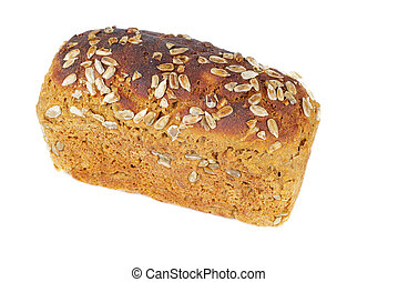 Loaf of rye bread with seeds