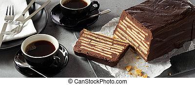 Loaf-shaped kalte Schnauze cake
