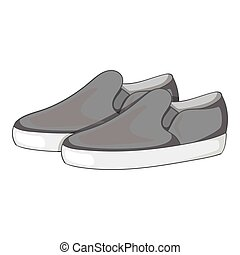 Loafers icon, gray monochrome style