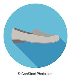 Loafers icon in flat style isolated on white background. Shoes symbol stock vector illustration.
