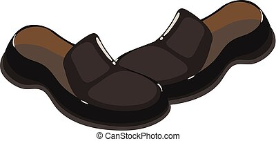 Loafers shoes icon, isometric style