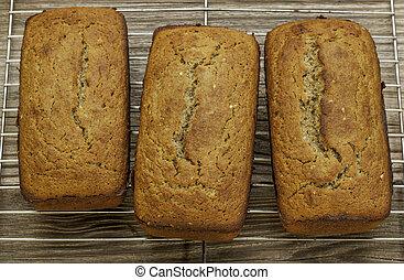 gluten free bread - loafs of freshly baked gluten free bread...