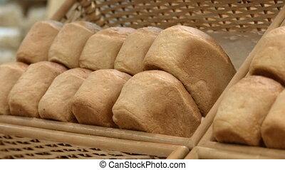 Loafs of white bread