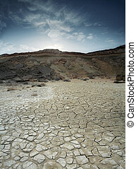 Loam Desert - A loam desert located at Qeshm Island in the...