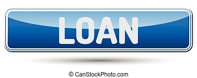 LOAN - Abstract beautiful button with text.