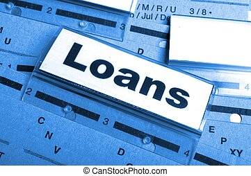 loan application in business folder showing financial investment concept
