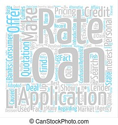 Loan Applications What Rate text background word cloud concept
