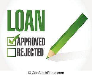 loan approved check mark illustration