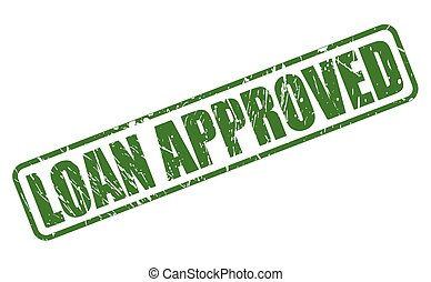 LOAN APPROVED green stamp text