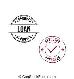 Loan approved grunge round vintage rubber stamp vector image