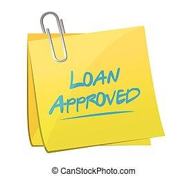 loan approved post it illustration design