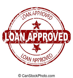 Loan approved red rubber stamp isolated