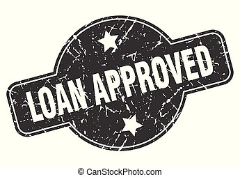 loan approved round grunge isolated stamp