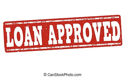 Loan approved stamp