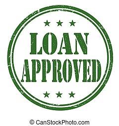 Loan approved grunge rubber stamp on white background, vector illustration
