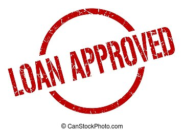 loan approved stamp - loan approved red round stamp