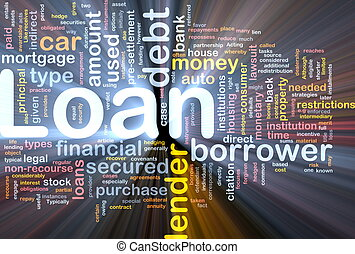 Loan background concept glowing - Background concept...