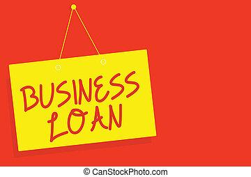 loan., concetto, finanziario, parete, testo, segno giallo, chiudere, messaggio, aperto, ipoteca, assistenza, scrittura, fondo., asse, comunicazione, rosso, affari, avanzamenti, significato, debito, contanti, credito, scrittura