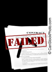 Loan Contract Document on Desk with Black Pen With Red...