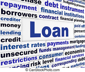 Loan creative banking concept. Financial service business background