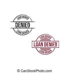 Loan denied grunge round vintage rubber stamp vector image