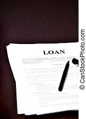 Loan Document on Desk