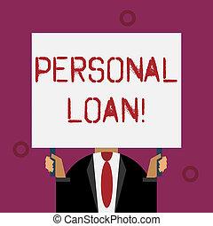 loan., financier, business, company., personnel, photo, projection, écriture, note, showcasing, individus, pris, prêt, unsecured