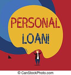 loan., financier, company., personnel, texte, projection, signe, conceptuel, individus, photo, pris, prêt, unsecured