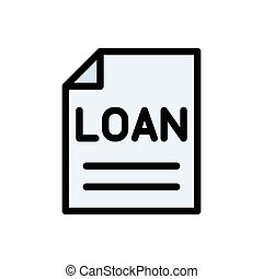 loan flat color icon